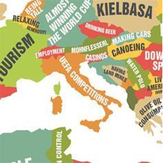 Una mappa del mondo che evidenzia il meglio di ogni nazione