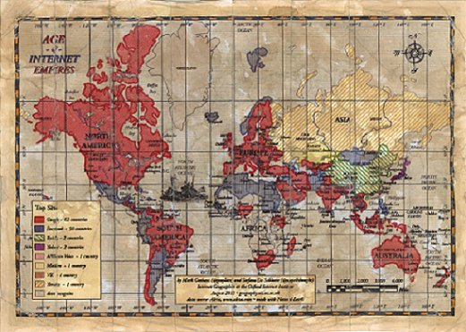 La mappa mondiale dei siti web più visitati